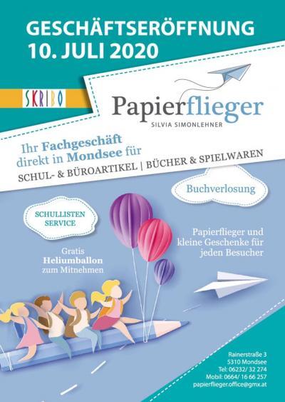 Papierflieger Geschäfts-eröffnung