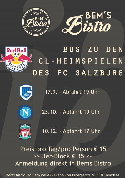 Fanbus Heimspiele FC Salzburg