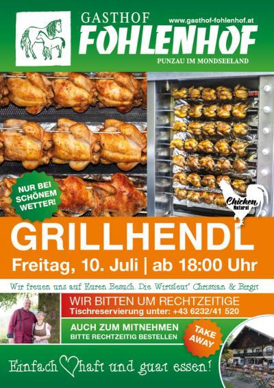 Grillhendl im Gasthof Fohlenhof