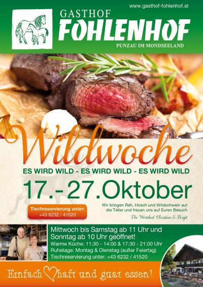 Gasthof Fohlenhof - Wildwoche